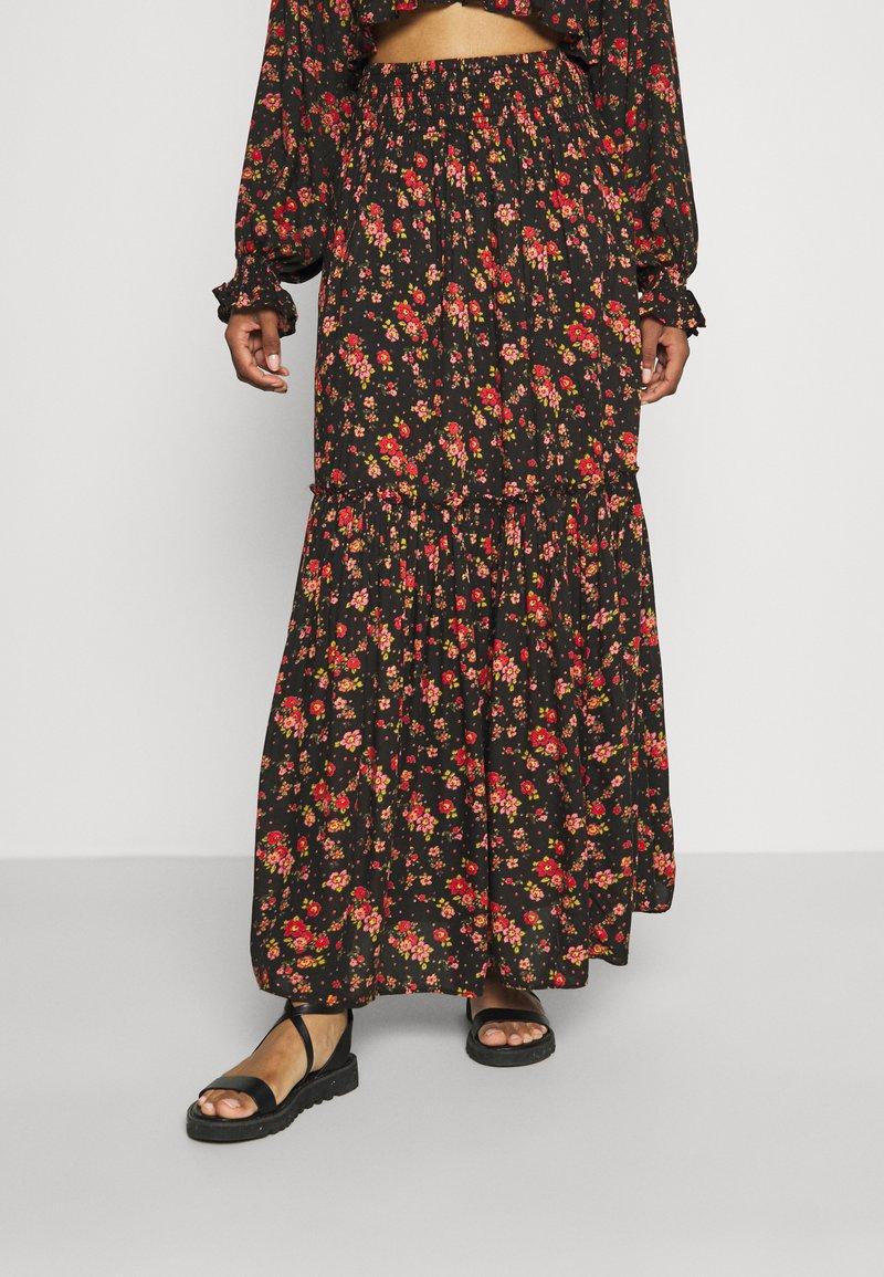 Free People - SECRET GARDEN SET - Maxi skirt - black