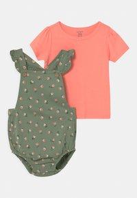 Carter's - SET - Print T-shirt - khaki/light pink - 0