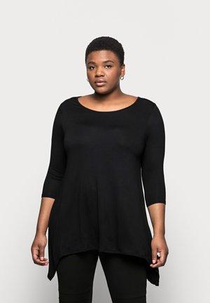 HANKY HEM - Print T-shirt - black