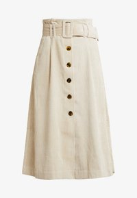 Topshop - BELTED MIDI - Maxi skirt - stone - 3