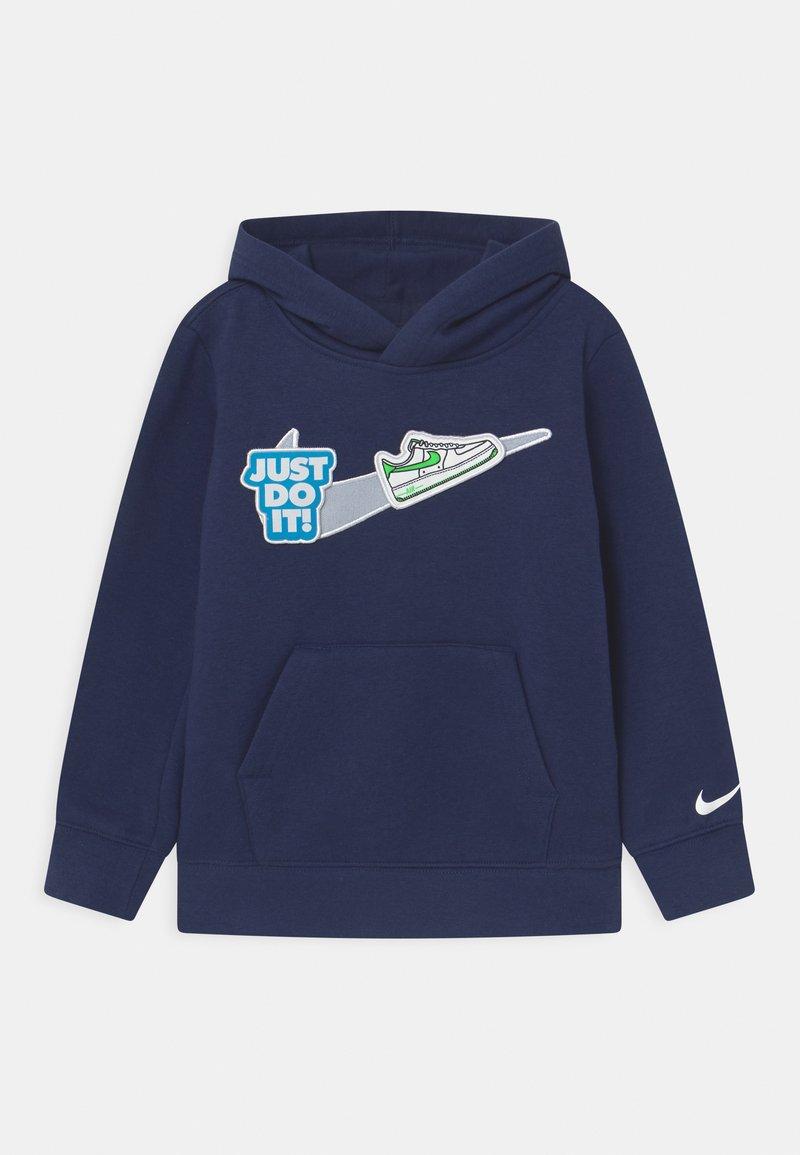 Nike Sportswear - HOOK LOOP  - Felpa - midnight navy/white