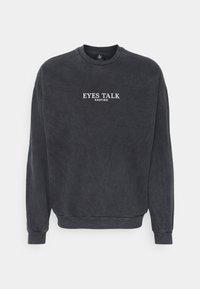 Kaotiko - UNISEX CREW TIE DYE EYES TALK - Sweatshirt - black - 3