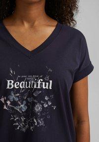 edc by Esprit - Print T-shirt - navy - 4