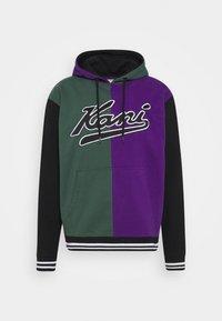 Karl Kani - VARSITY BLOCK HOODIE UNISEX  - Sweatshirt - darkgreen - 5