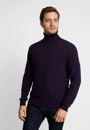 Strikpullover /Striktrøjer - dark purple