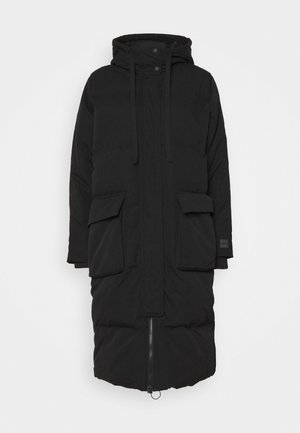 LONG JACKET - Down coat - true black