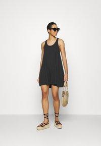 aerie - SWINGY DRESS - Jersey dress - true black - 1