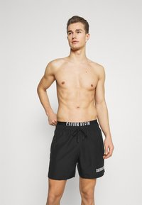 Calvin Klein Swimwear - INTENSE POWER MEDIUM DOUBLE - Shorts da mare - black - 1