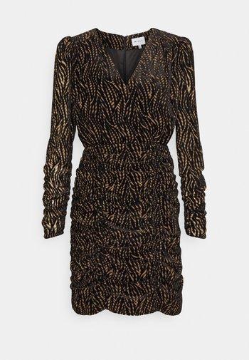 FINLEY LEAVES DRESS - Cocktail dress / Party dress - natural/black