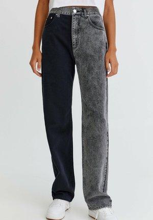 Jeans straight leg - mottled black