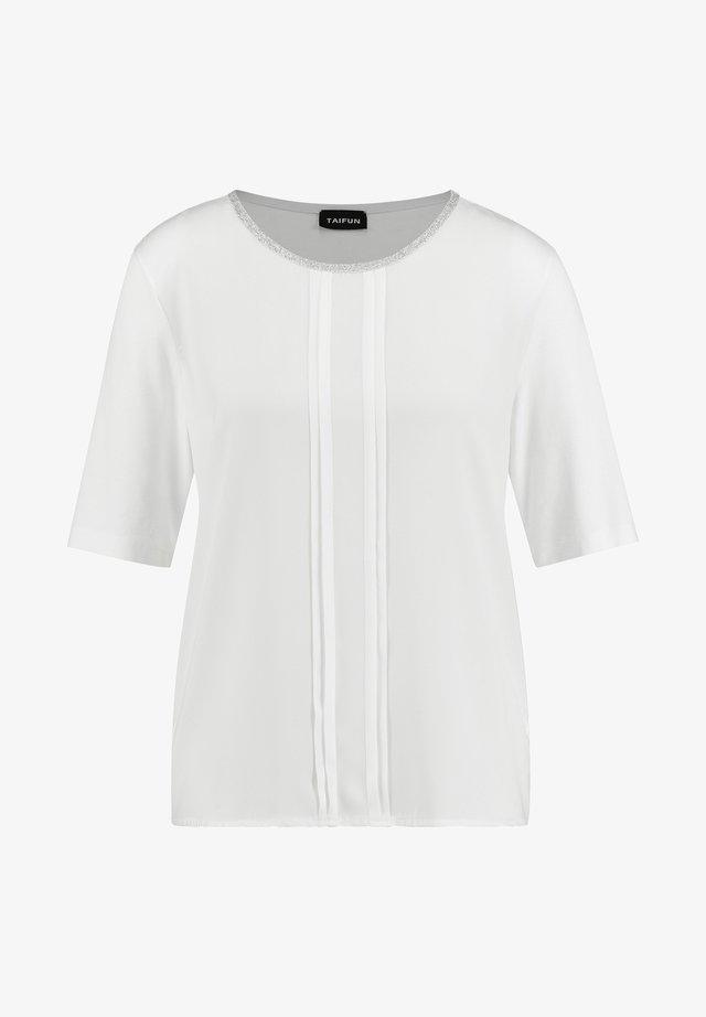 MIT SATIN-FRONT - Print T-shirt - offwhite