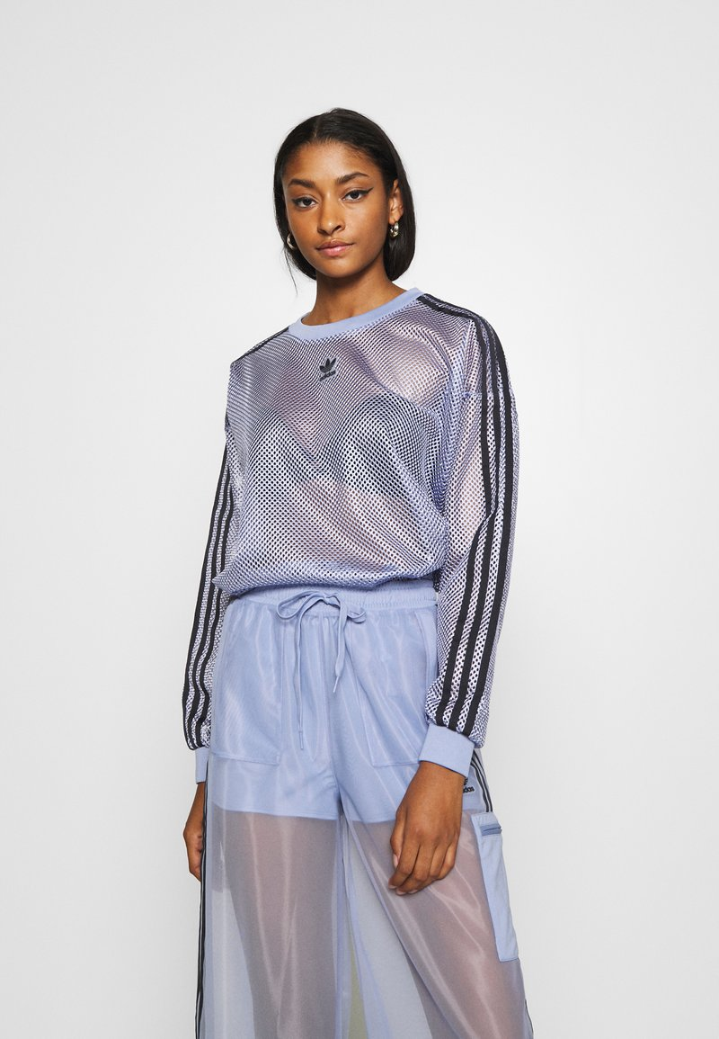 adidas Originals - CREW SPORTS INSPIRED - T-shirt à manches longues - chalk blue