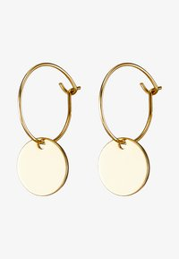 MINI COIN HOOP EARRING - Kolczyki - pale gold-coloured