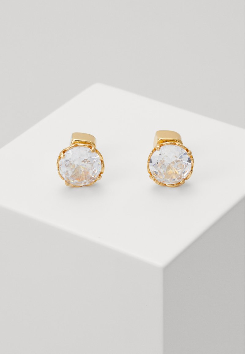kate spade new york - THAT SPARKLE ROUND EARRINGS - Earrings - clear/gold-coloured