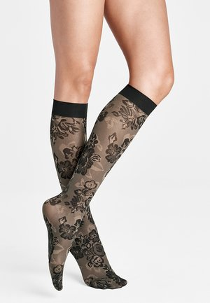 TATUM - Knee high socks - fairly light/black
