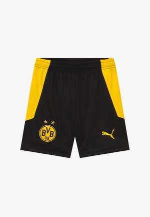 BVB BORUSSIA DORTMUND REPLICA - Pantalón corto de deporte - black/cyber yellow