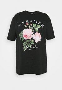 Simply Be - DREAMER - T-shirt imprimé - black - 3