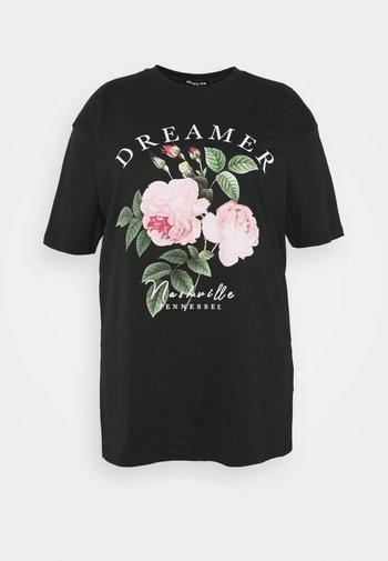 DREAMER - Print T-shirt - black