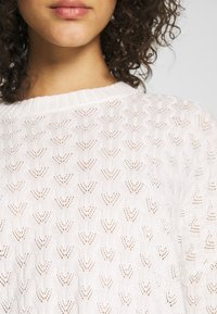 Even&Odd - STRUCTURED JUMPER  - Strikpullover /Striktrøjer - white - 5