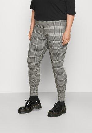 CARCHECKA CHECK - Trousers - black/white