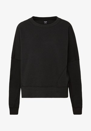 HAYLIE BOXY PANEL CREW - Felpa - washed black