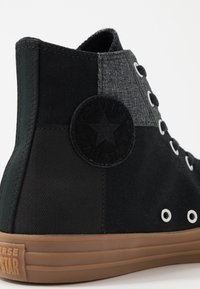 Converse - CHUCK TAYLOR ALL STAR - High-top trainers - black/honey - 5