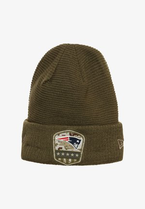 NFL NEW ENGLAND PATRIOTS SALUTE TO SERVICE BEANIE - Beanie - olive