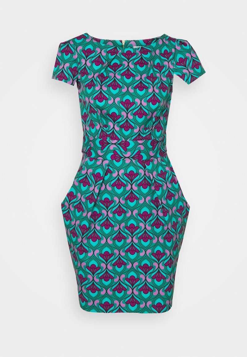 Closet - CHELSEA TULIP - Shift dress - turquoise