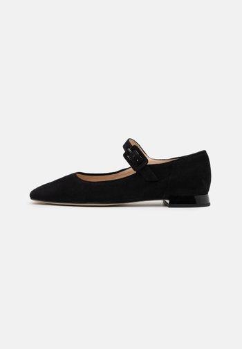 DUCKY - Ankle strap ballet pumps - schwarz