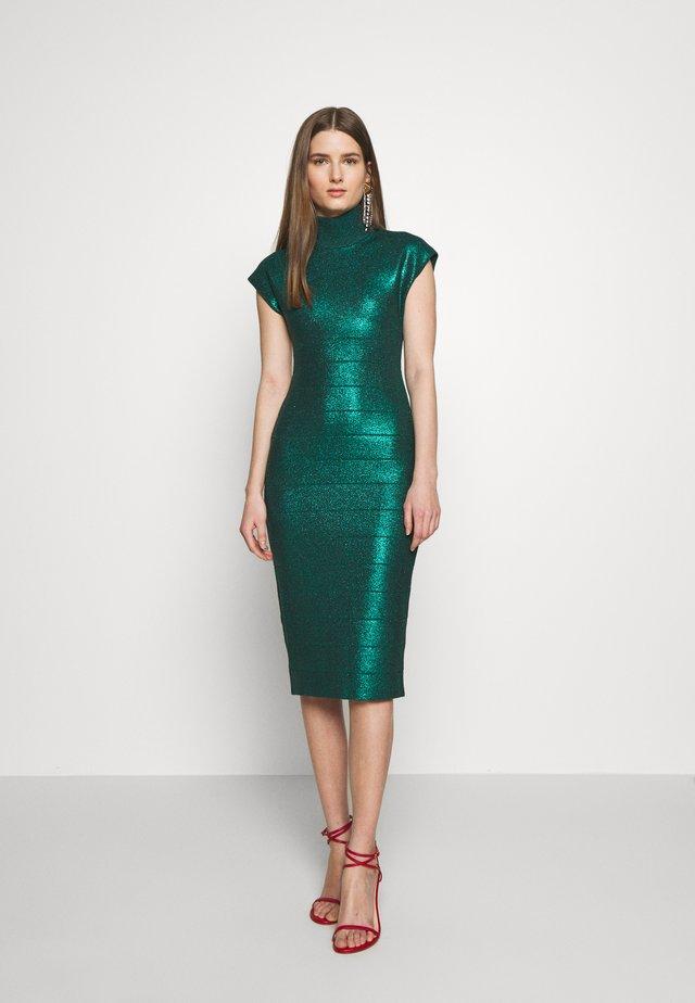 MOCK NECK DRESS - Robe fourreau - green