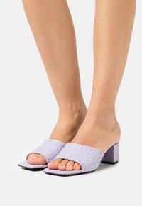 Monki - Heeled mules - lilac purple dusty light - 0