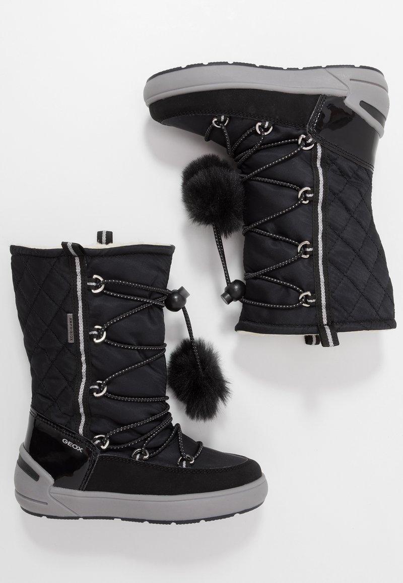 Geox - SLEIGH GIRL ABX - Šněrovací vysoké boty - black