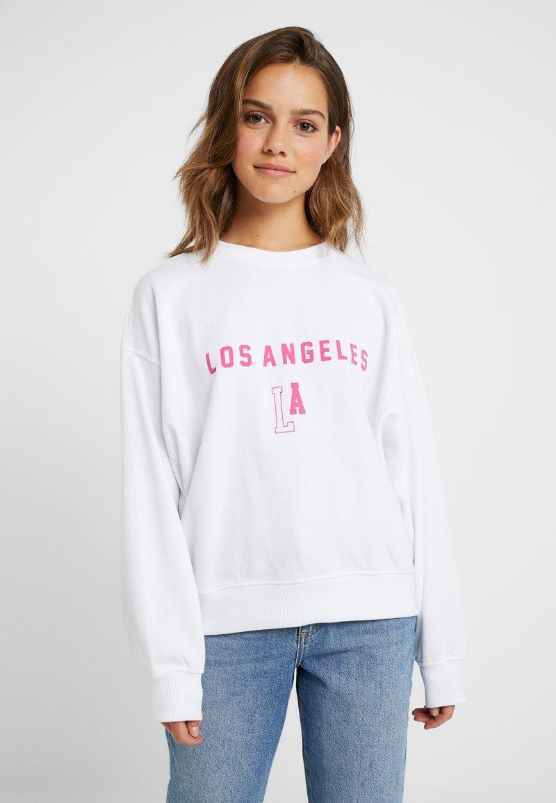 Missguided Petite - FLORIDA GRAPHIC - Sweatshirt - white