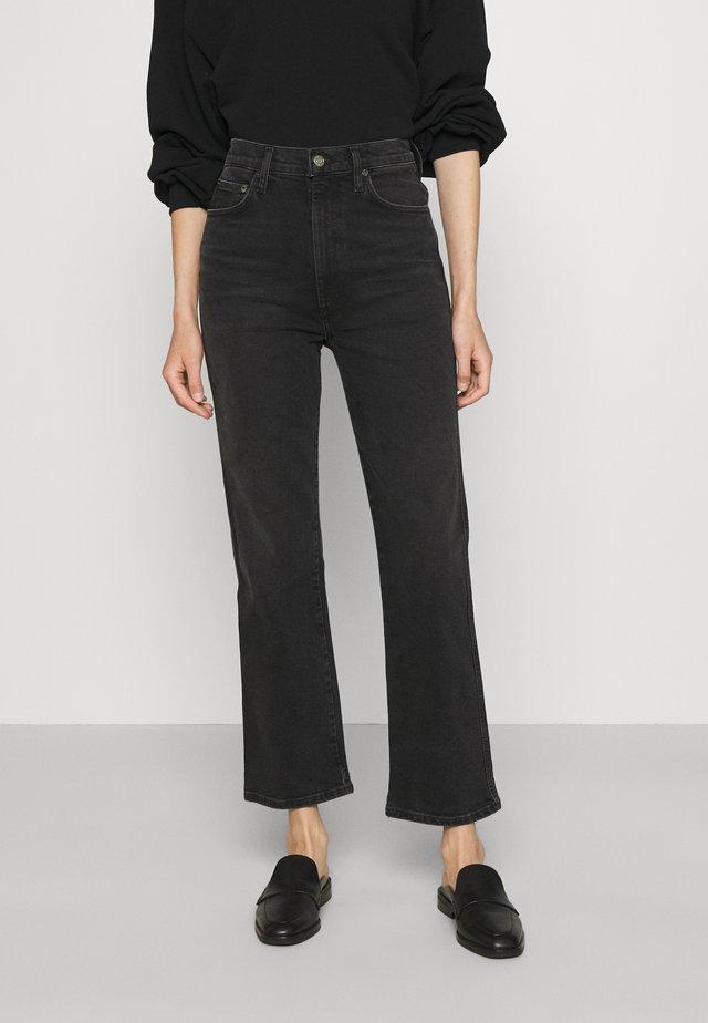 PINCH WAIST  - Straight leg -farkut - washed black