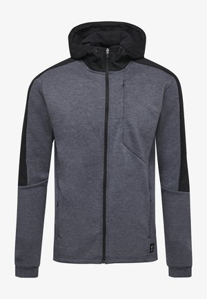 HMLTROPPER - Training jacket - black iris melange