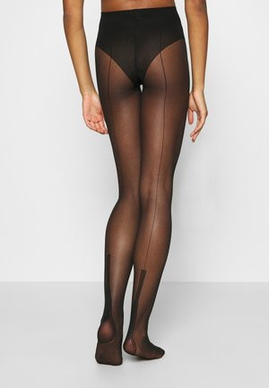 FALKE PIN UP 15 DENIER STRUMPFHOSE TRANSPARENT FEIN - Tights - black