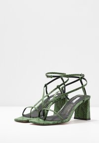 Topshop - NICO HEEL - T-bar sandals - green - 4