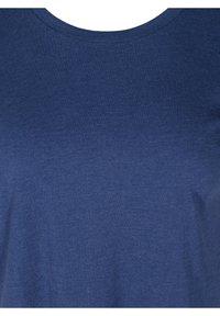Zizzi - Basic T-shirt - twilight blue mel. - 5