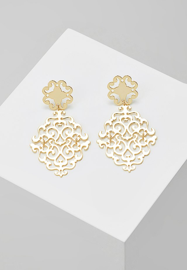 RIMII PENDANT EAR PLAIN - Earrings - gold-coloured