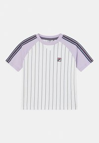 Fila - TAMMY CROPPED TAPED - Print T-shirt - bright white/pastel lilac - 0
