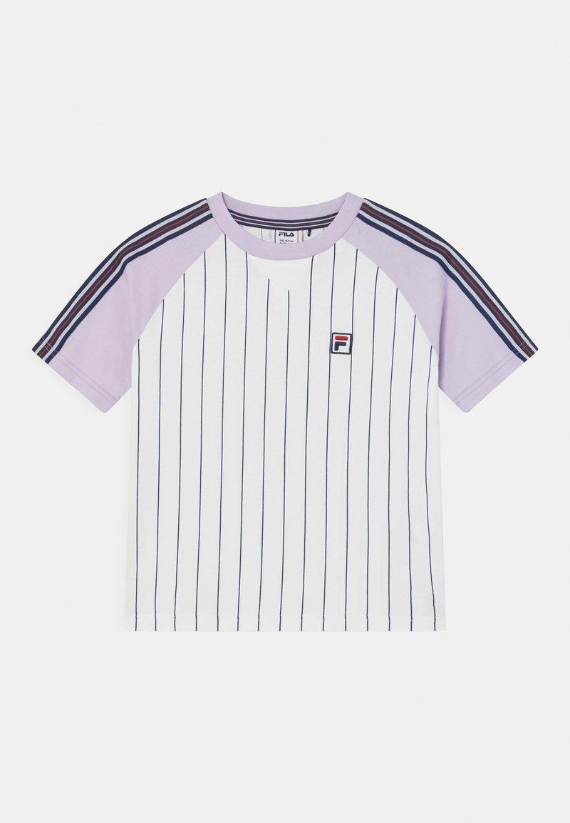 Fila - TAMMY CROPPED TAPED - Print T-shirt - bright white/pastel lilac