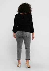 ONLY Carmakoma - ZEBRA - Long sleeved top - black - 2