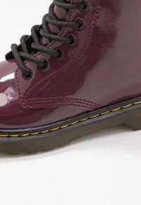 Dr. Martens - 1460 J PATENT - Lace-up ankle boots - plum - 2