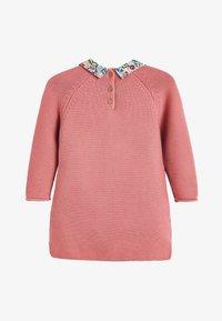 Next - PINK PRINTED COLLAR JUMPER DRESS (3MTHS-7YRS) - Jumper - pink - 1