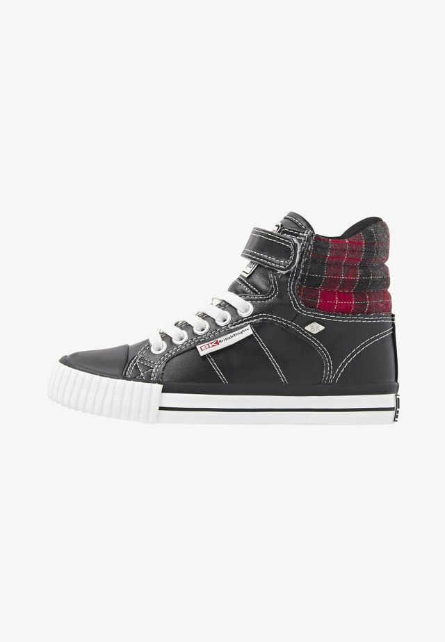 ATOLL - Baskets montantes - black/red checker