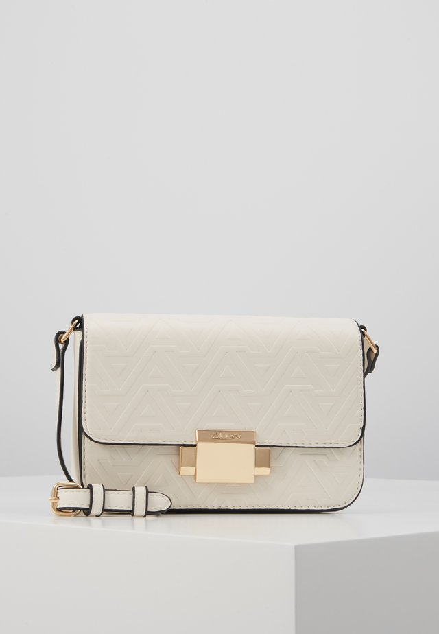 TYPHA - Across body bag - bright white with gold hardware