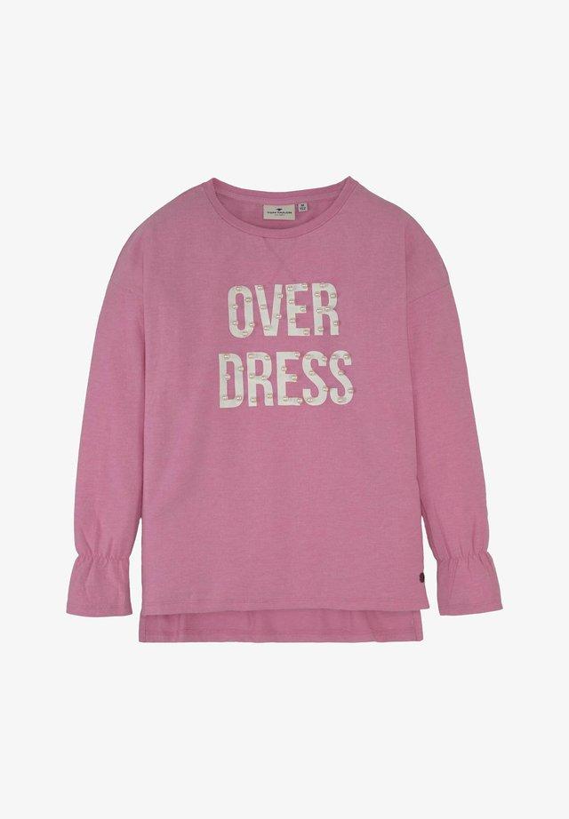 Sweatshirt - begonia pink rose