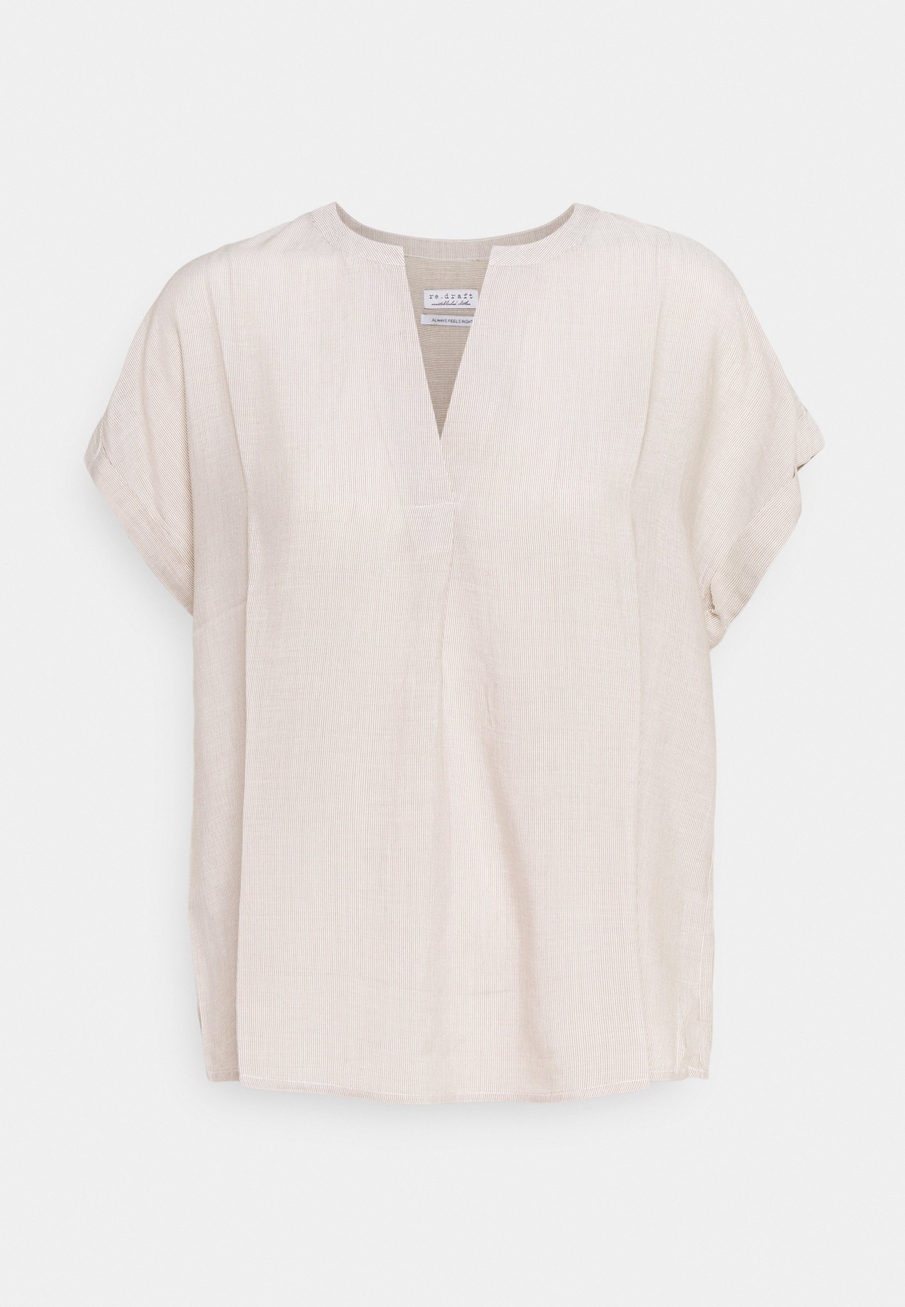 Women STRIPED BLOUSE WITH PLEAT - Blouse