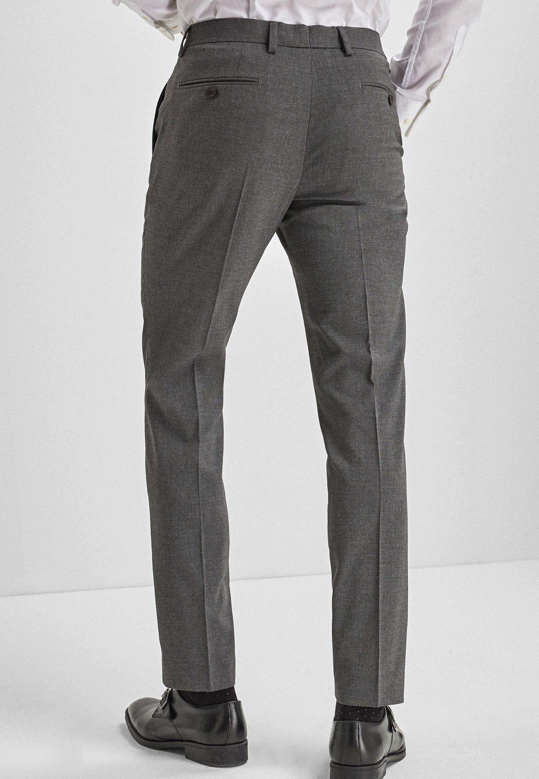 Homme BLUE SKINNY FIT STRETCH MARL SUIT TROUSERS - Pantalon de costume