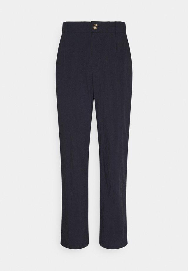 Trousers - navy nylon